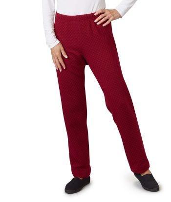 Women's Open Back Track Suit Pant Wine