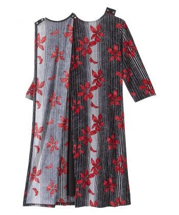 Women's Open Back Twofer Dress