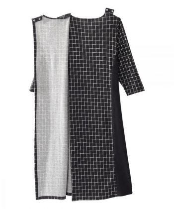 Women's Stylish Color Block Open Back Dress