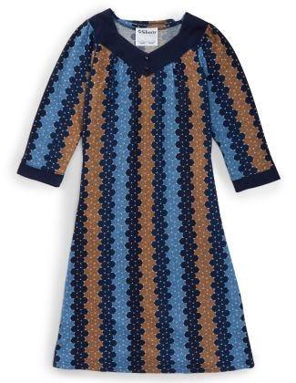Women's Open Back Sweater Knit Dress Diamond Neckline Multi-Dots