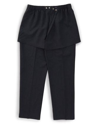 Womens Adaptive  Open Back Gabardine Pants