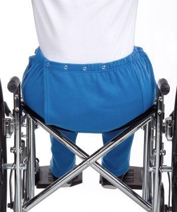 Womens Adaptive Open Back Fleece Pants Blue