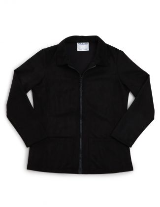 Women's Magnetic Zip Front Jacket Black