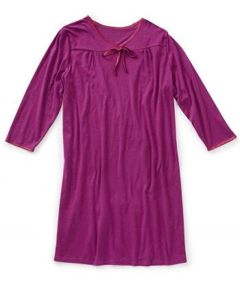 Nightgown Open Back Solid in Wine