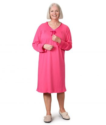 Women's Antimicrobial Open Back Nightgown