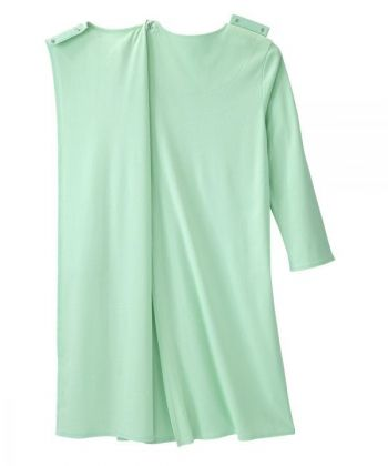 Women's No Peek Hospital & Home Care Gown with Lace Neckline