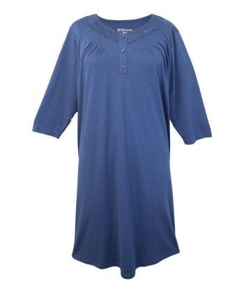 Soft Womens Lace-Trimmed Hospital Patient Gown