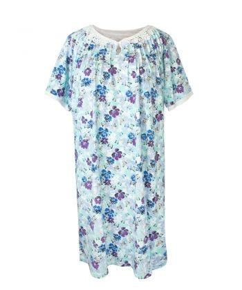 Nightgown O/B Knit Lace in Blooming Garden