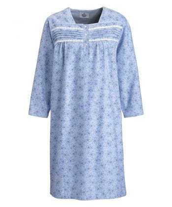 Nightgown Open Back in Blue Pinwheels