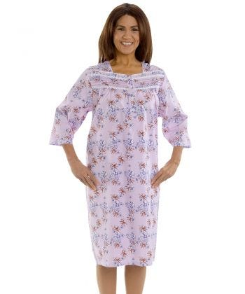 Comfy 3/4 Long Sleeve Hospital Gowns For Women