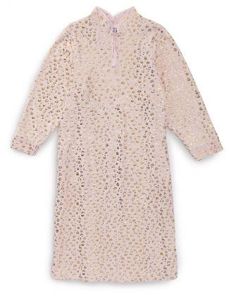 Nightgown O/B Zip Front in Pink Leopard