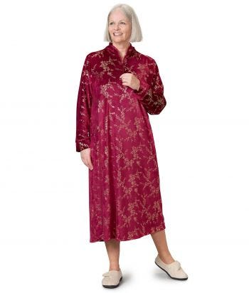 Women's Open Back Plush Loungewear Nightgown