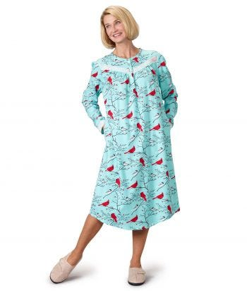 Women's Open Back Flannel Nightgown