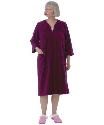Womens Adaptive Fleece Housecoat