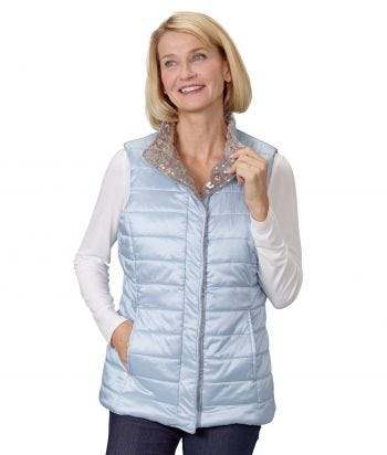 Women's Sleeveless Reversible Magnetic Front Vest