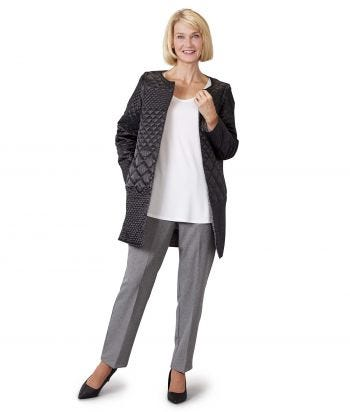 Womens Reversible Quilted Jacket with Detachable Sleeves Black/Silver