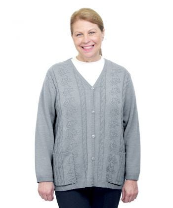 Womens Adaptive Open Back Cardigan