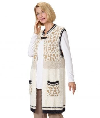 Women's Sweater Vest with Magnetic Snap