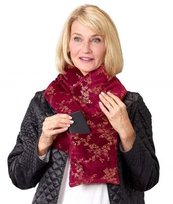 Ladies Soft Plush Post-Surgical Puffer Scarf