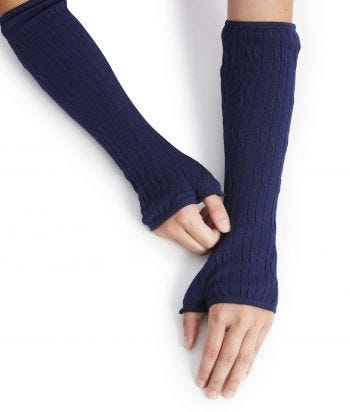 Womens and Mens Arm Warmers Protectors Cable Sweaterknit