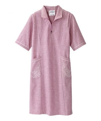 Women's Adaptive Open Back Embroidered Linen Dress