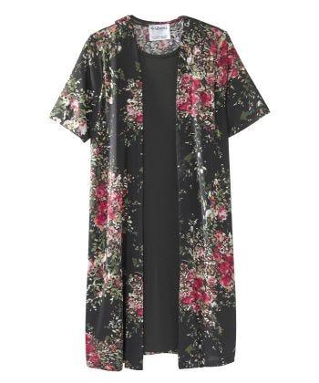 Senior Women's Adaptive Open Back Two-fer Dress Blossom/Black