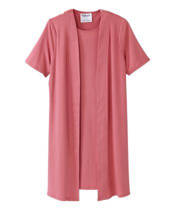 Women's Adaptive Open Back Sleek & Stylish Two-fer Dress