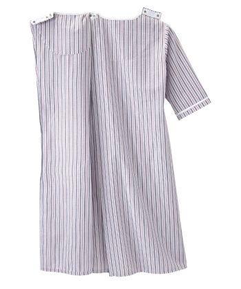 Women's Adaptive Open Back Front Zip Nightgown