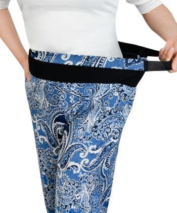 Womens Arthritis Easy Grip Wide Leg Pull On Pants
