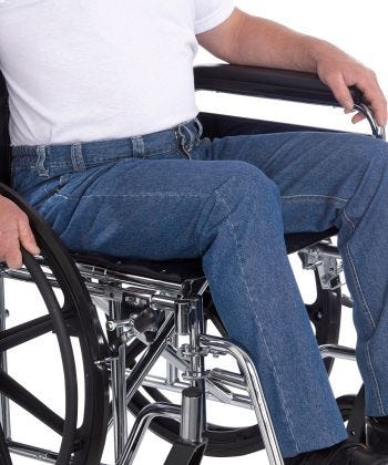 Wheelchair Jeans for Men with High Back Rise Denim