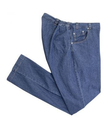 Wheelchair Jeans for Men with High Back Rise