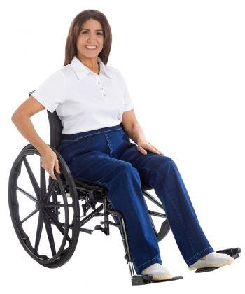 Womens IZ Designer Wheelchair Jeans