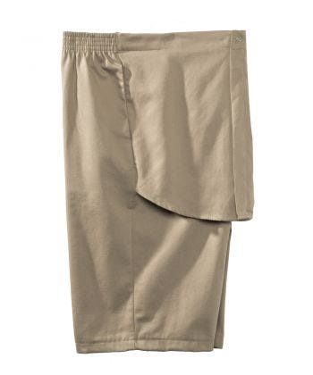 Mens Elastic Waist Cotton Adaptive Shorts