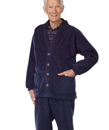 Men's Adaptive Soft Fleece Cardigans