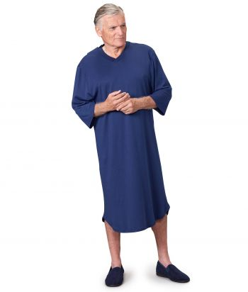 Men's Antimicrobial Open Back Hospital Gowns