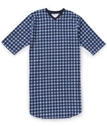 Men's Flannel Hospital Gowns Blue Plaid