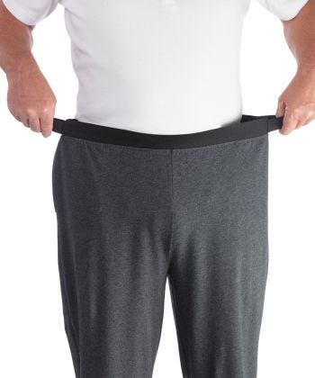 Mens Arthritis Easy Grip Wide Leg Pull On Pants