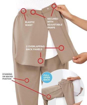 Wheelchair Gabardine Pants for Men - Clearance