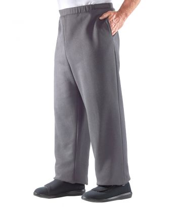 Trackpant Open Side in Grey