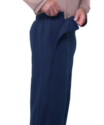 Mens Arthritis Fleece Easy Access Pants