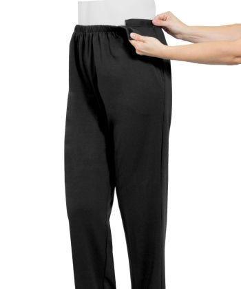 Open Side Gab Pant in Black
