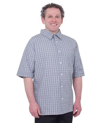 Men's Short Sleeve Adaptive Shirts