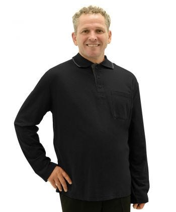 Mens Adaptive Open Back Polo Shirt