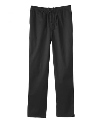 Regular Mens Cotton Elastic Waist Pant Black