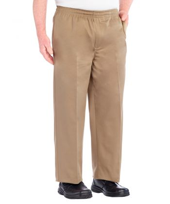 Regular Mens Cotton Elastic Waist Pant