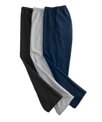 Men's Self Dressing Pull On Fleece Pant