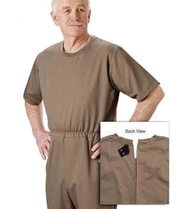 Men's Dementia Alzheimer's Anti Strip Jumpsuit
