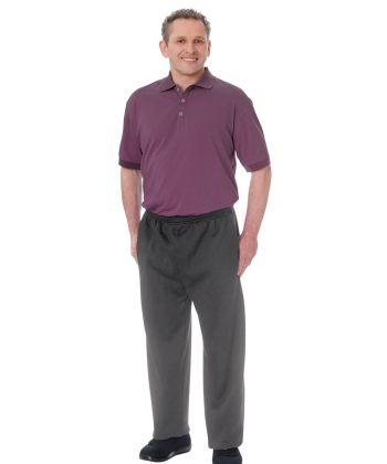 Men's Dementia Alzheimer's Jumpsuit  Eggplant/Grey