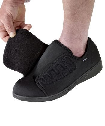 Mens Extra Wide Antimicrobial Shoes Black
