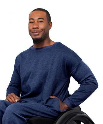 Adaptive Fleece Sweatshirt for Men
